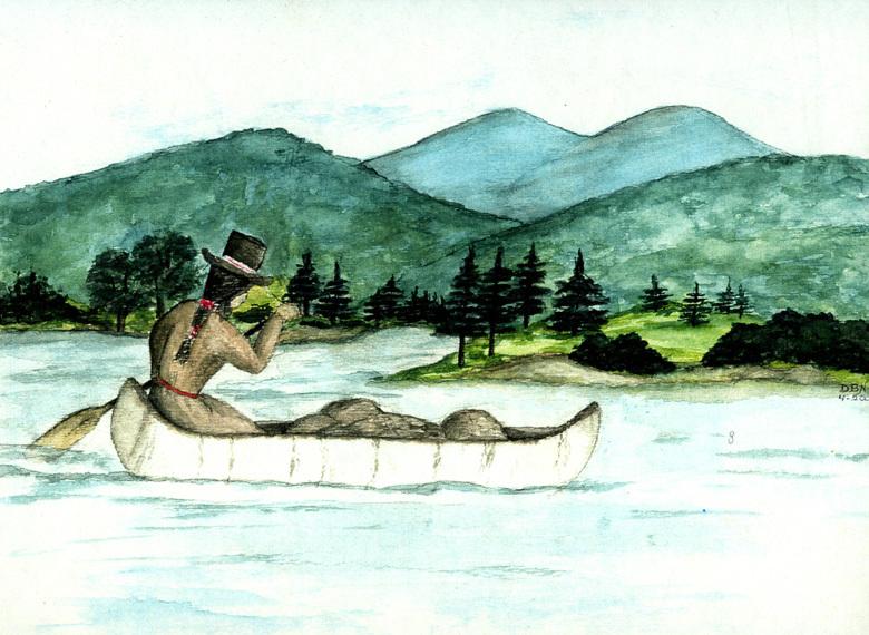 Molly Ockett in Canoe