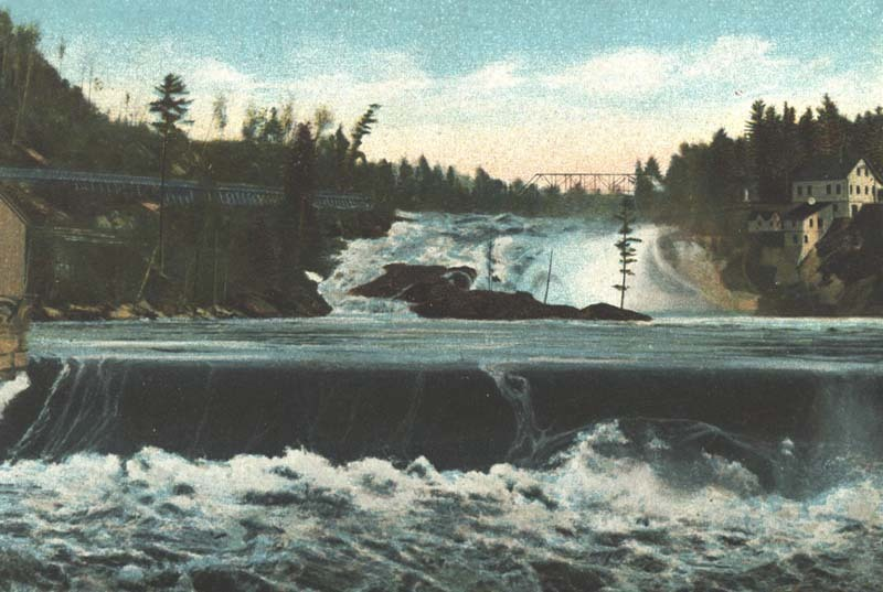 Upper and middle falls, Rumford