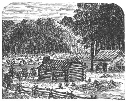 18th century log cabin
