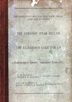 Lewiston Steam Mill Company report
